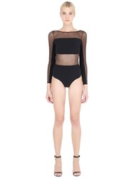 Christies Microfiber Shapewear And Tulle Bodysuit