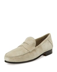 Tod's Gommini Suede Penny Loafer Ivory