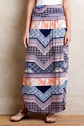 Maeve Couloir Maxi Skirt Blue Motif