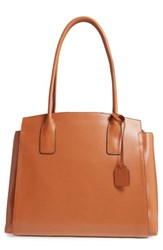 Lodis Zola Leather Tote Brown Toffee