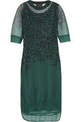 By Malene Birger Hiltah Printed Tulle Dress Green