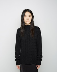 Organic By John Patrick Cable Knit Pullover