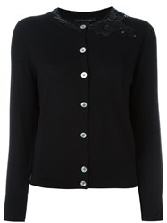 Marc Jacobs Sequinned Bow Cardigan Black