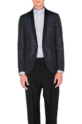 Lanvin Slim Fit Shawl Collar Jacket In Blue