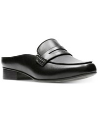 Clarks Artisan Women's Keesha Donna Mules Women's Shoes Black Leather