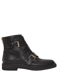 Sergio Rossi 20Mm Seattle Buckles Leather Ankle Boots