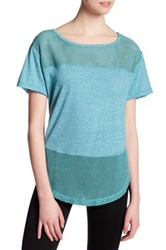 Free People Hourglass Mesh Tee Blue
