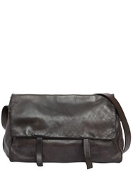 Numero 10 Edmond Leather Messenger Bag Black