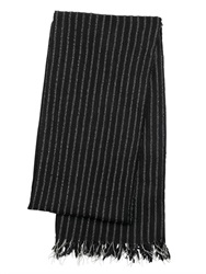 Golden Goose Deluxe Brand Pinstriped Reflex Wool Knit Scarf