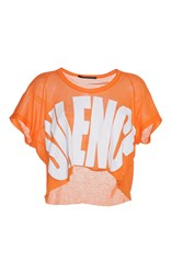 Haider Ackermann Cropped Silence T Shirt Orange