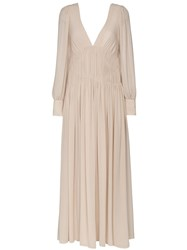 Stella Mccartney Carleigh Silk Georgette Maxi Dress Nude And Neutrals