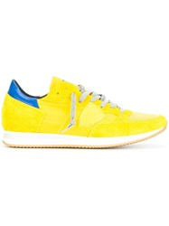 Philippe Model Lace Up Trainers Yellow Orange