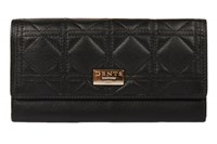 Dents Ladies Flap Over Quilted Purse Black