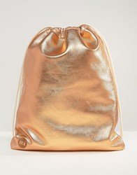 Mi Pac Kit Bag Metallic Rose Gold Rose Gold