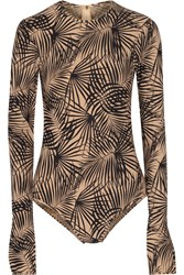 Tomas Maier Printed Swimsuit Black
