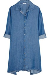 Splendid Belted Denim Shirt Dress Mid Denim