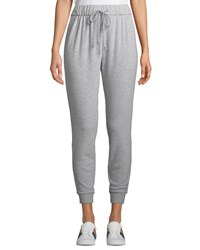 Cupcakes And Cashmere Deano Drawstring Knit Jogger Pants Light Gray