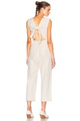 Sea Tied Back Jumpsuit In Neutrals