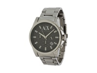 Armani Exchange Outer Banks Silver Black Analog Watches Gray