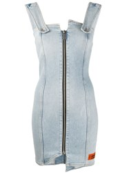 Heron Preston Zip Detail Denim Dress 60