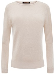 Jaeger Cashmere Metallic Jumper Pale Gold