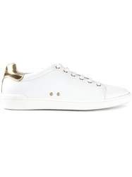 Moschino Lace Up Sneakers White