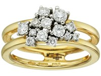 Miseno Vesuvio 18K Gold Ring With Diamonds Yellow Gold Ring