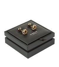 Harrods Of London Knot Gold Plated Cufflinks Unisex