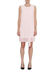 French Connection James Sheer Fluted Dress Powder Pink