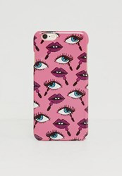 Missguided Pink Lips Printed Iphone 6 6S Case