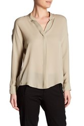 Vince Silk Dolman Sleeve Blouse Brown