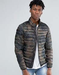 Pull And Bear Pullandbear Padded Jacket In Camo L. Khaki Green