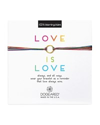 Dogeared Love Is Love Rainbow Bracelet 100 Exclusive Gold Multi