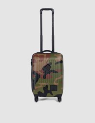 Herschel Trade Carry On Luggage In Woodland Camo