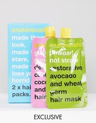 Anatomicals Asos Exclusive Hair Pack X 2 Masks Hair Pack Clear
