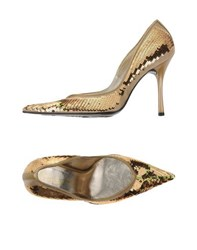 Loretta Pettinari Footwear Courts Women Gold