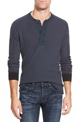Eddie Bauer 'Woodside Ilaria Urbinati Collection' Trim Fit Henley Thermal Midnight Navy