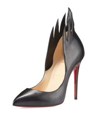 Christian Louboutin Victorina Flame 100Mm Red Sole Pump Black