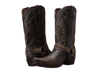 Stetson Outlaw Eagle Biker Distressed Black Men's Boots