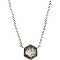 Hexagonal Bezel Pendant Necklace