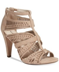Alfani Women's Chloey Cutout Dress Sandals Only At Macy's Women's Shoes Cashew