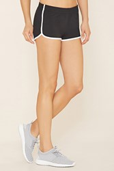 Forever 21 Active Dolphin Shorts Black White