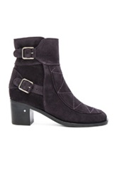 Laurence Dacade Babacar Suede Booties In Blue Purple