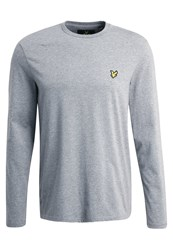 Lyle And Scott Crew Neck Long Sleeved Top Mid Grey Marl