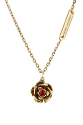 Marc Jacobs Small Flower Necklace Gold