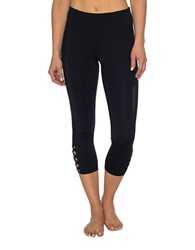 Betsey Johnson Bodycon Fit Cropped Leggings Black