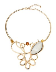 Robert Rose Multi Stone Collar Necklace 14 In Gold