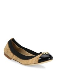 Tory Burch Jolie Cork Ballet Flats Natural