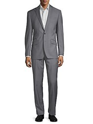 Tallia Orange Notch Lapel Wool Suit Light Grey
