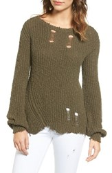 Pam And Gela Women's Shredded Sweater